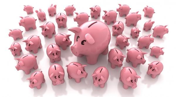 Viele Sparschweinchen